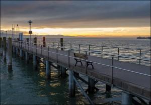 Mole Kressbronn kurz vor Sonnenuntergang